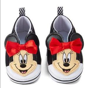 Disney Minnie Mouse Black Sneaker Booties Girls